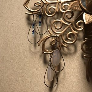 Two pairs of lightweight silver tone earrings